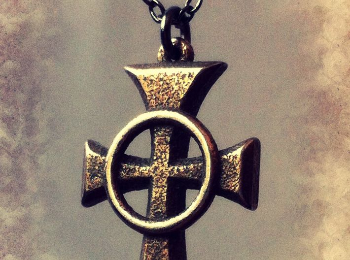 Boondock saints celtic cross pendant 1 amfeg2qe3 by niquegeek boondock saints celtic cross pendant 1 3d printed voltagebd Images