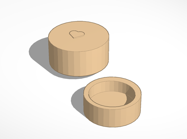 Wooden Box dowloadable 3d printed
