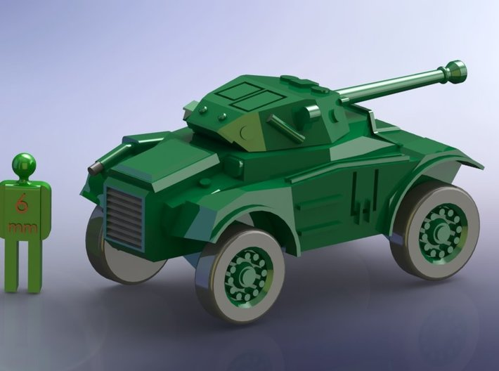 British Coventry Amoured Car Mk. II 1/285 6mm 3d printed Add a caption...