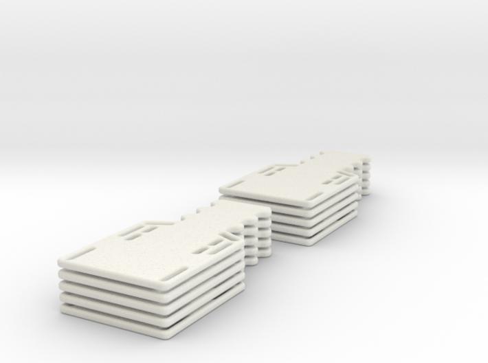 1/24 scale Half spine board set (10) 3d printed