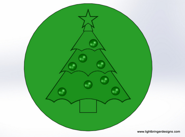 Christmas Tree  Wax Seal 3d printed This is what the seal on your envelope will look like