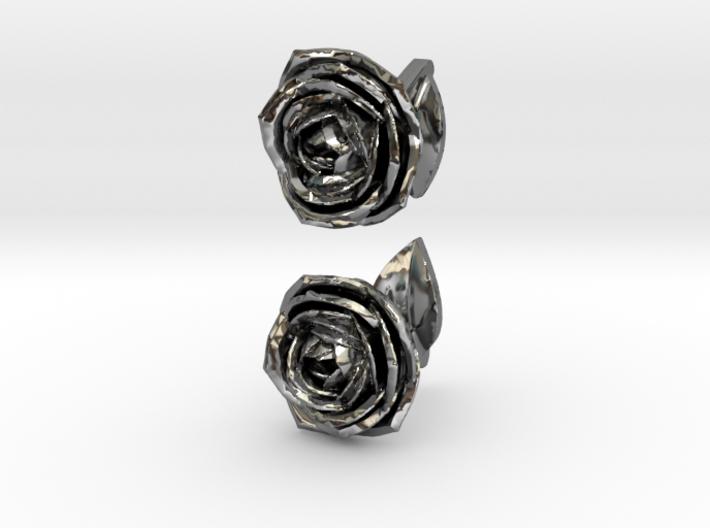 Rose Cufflinks 3d printed