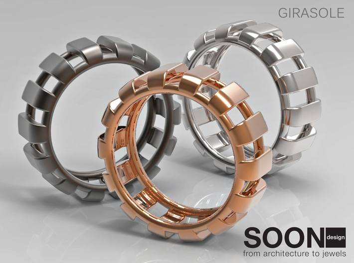 GIRASOLE RING - SIZE 8 3d printed