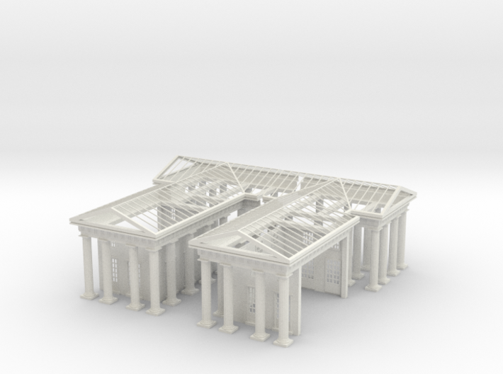 1-144 Brandenburg Gate Detached Build 3d printed