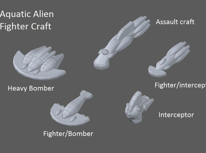 10 Aquatic Fighter/Bombers 3d printed faction preview