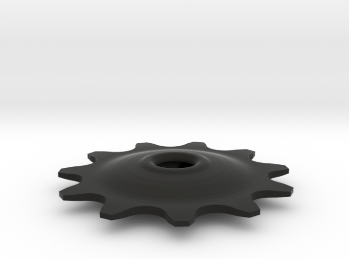 Pulley 11t for RD, hollow, flange (lower pulley) 3d printed