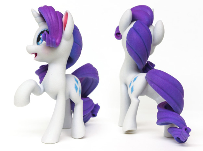 Rarity My Little Pony (6in Tall) 3d printed