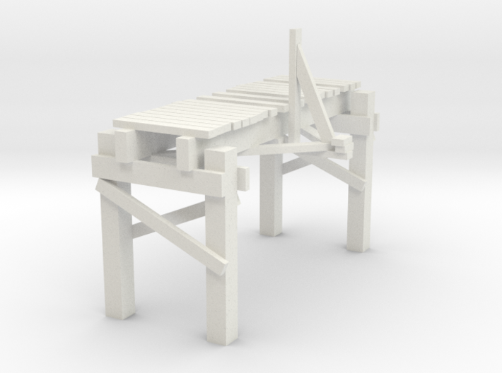 2 In Picturesque Wood Bridge 3d printed
