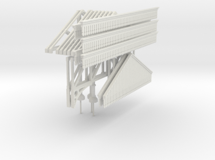 Platform Canopy 280mm long (without roof) 3d printed
