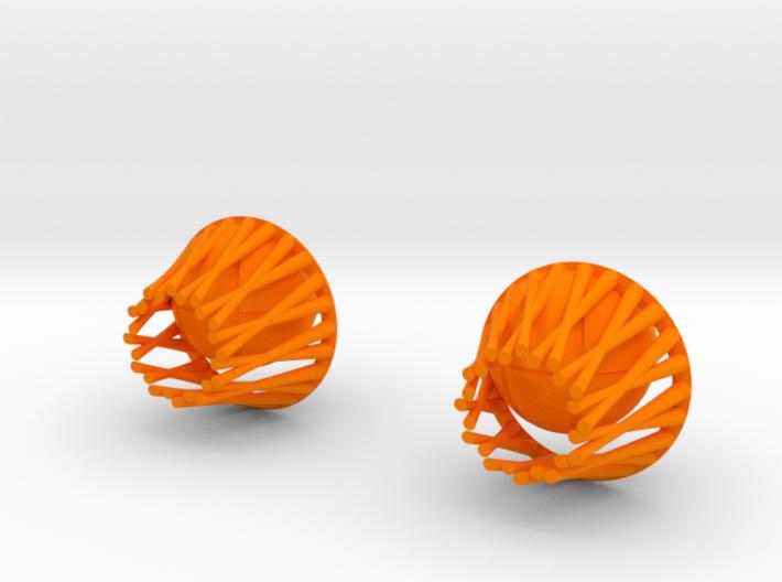Basket earrings 3d printed