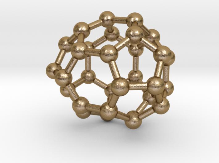 0007 Fullerene c30-2 3d printed Polished Gold Steel