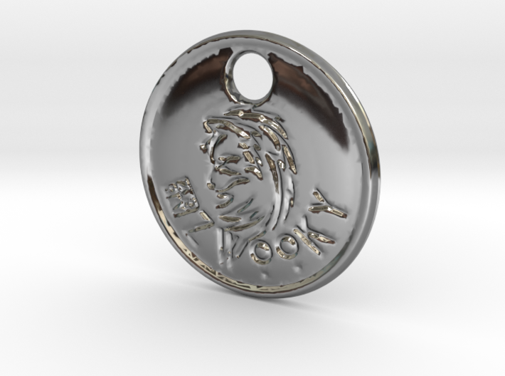 ZWOOKY Style 81 - keychain wolve - bail 3d printed