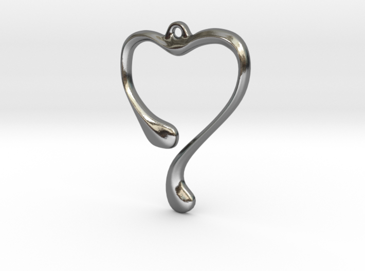 Heart shape pendant 3d printed