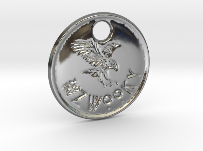 ZWOOKY Style 83 Sample - keychain eagle 3d printed