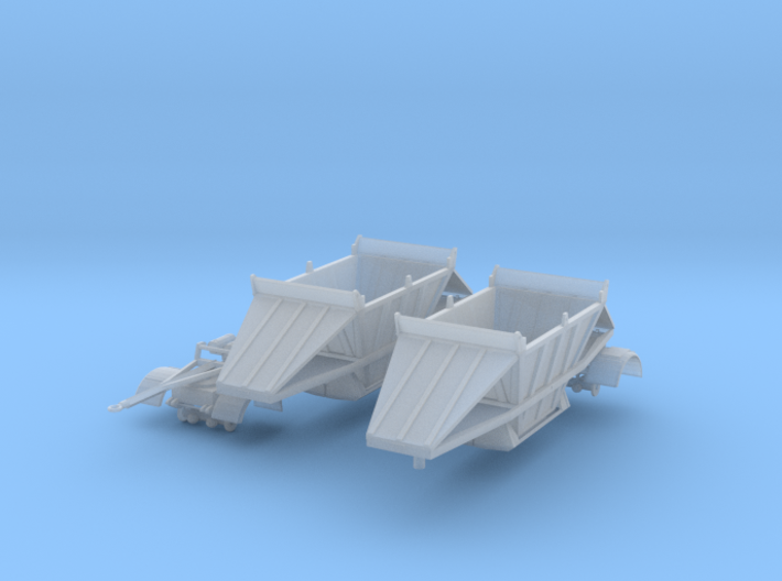 1/64th Scale Fruehauf type 24' Belly dump trailers 3d printed