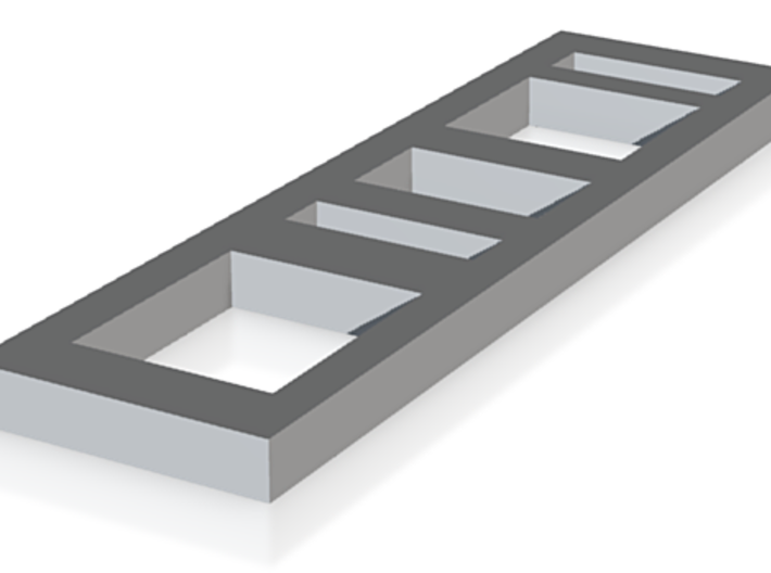 Rectangle Bar With Cut Outs 3d printed