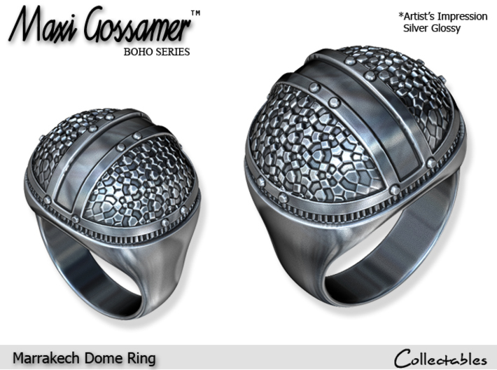 Marrakech Dome Ring 3d printed