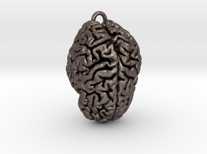 Brain Pendant 3d printed