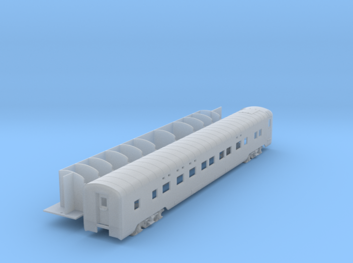 Pullman 4-4-2 sleeper, plan 4069 (1/160) 3d printed