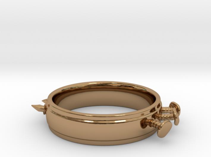 Nailed Wedding Ring - Size 9 3d printed