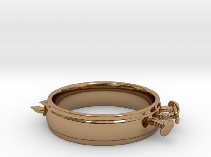 Nailed Wedding Ring - Size 10 3d printed