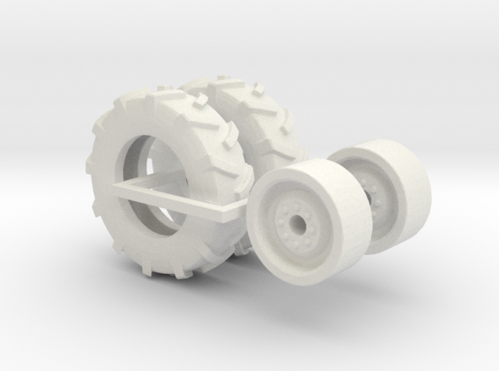 1:64 scale 11-22.5 Tire And Wheels 3d printed