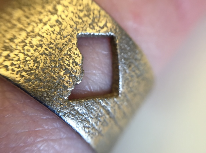 DC Ring with Map (Size 9) 3d printed DC
