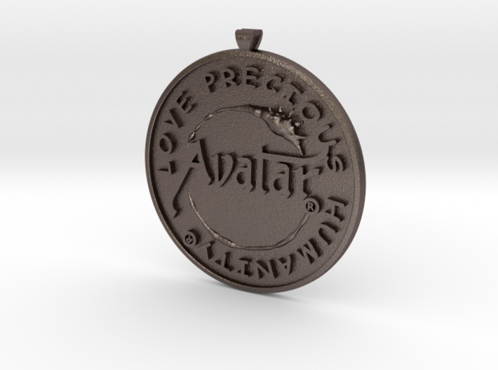 Steel - Avatar® pendant / keychain 3d printed Stainless Steel - Only on sale from february 12th till february 15th 2015