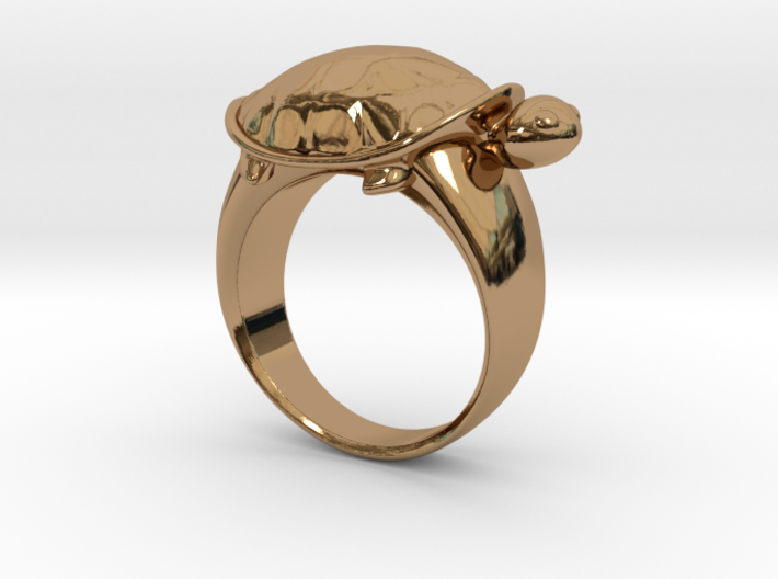 Turtle Ring (Size 7.5) 3d printed