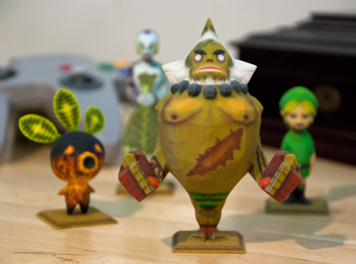 Goron Statue from Zelda Majora's Mask 3d printed All four of the Majora's Mask statues printed in full color.