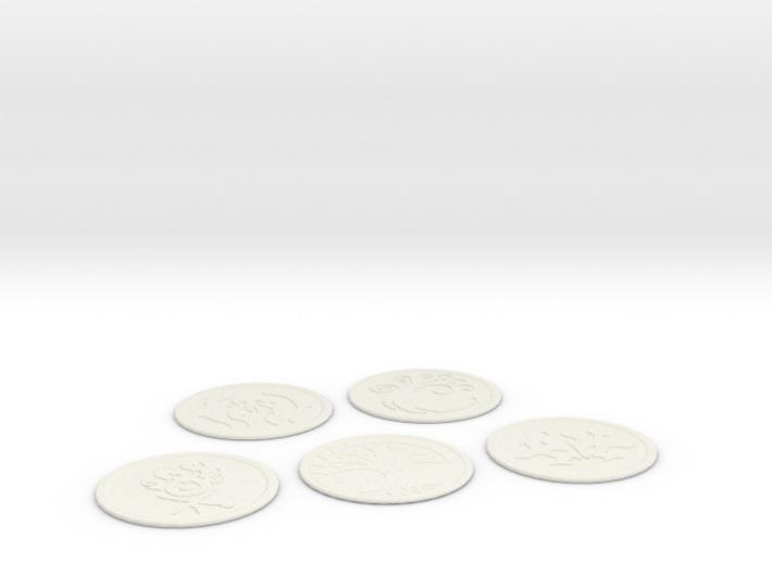 Ravnica Coasters blank 2 3d printed
