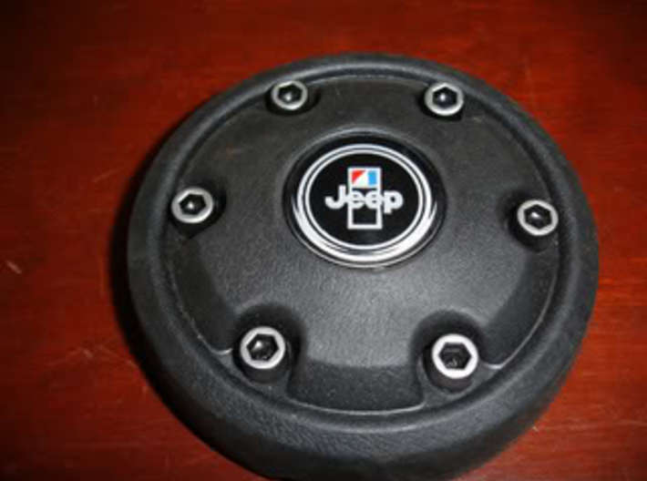 Jeep CJ Horn Button Hex Heads 3d printed Horn Button Cover