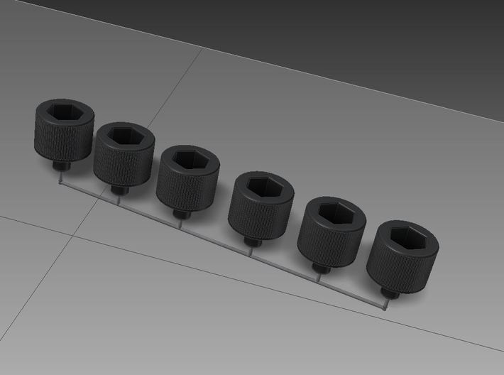Jeep CJ Horn Button Hex Heads 3d printed Overhead Angle