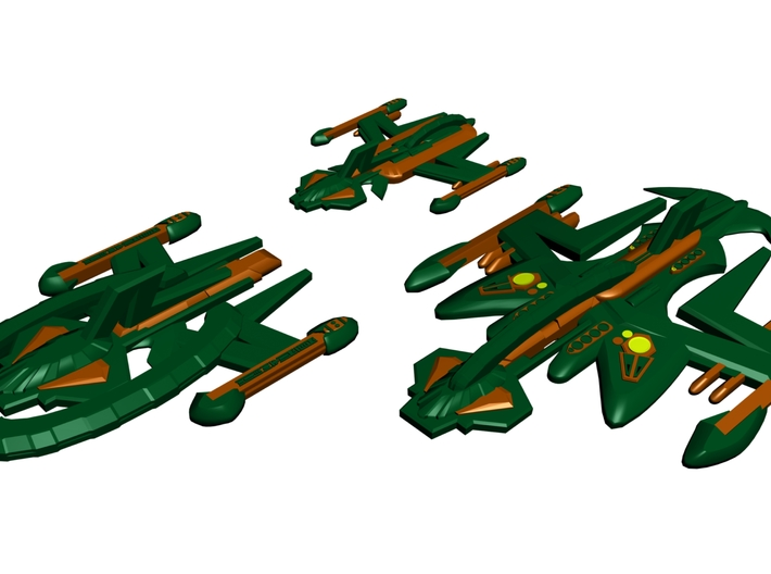 Gorn Fleet of Ships 3d printed