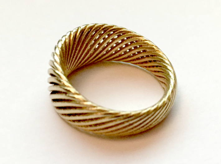 Twisted Ring - Size 5 3d printed