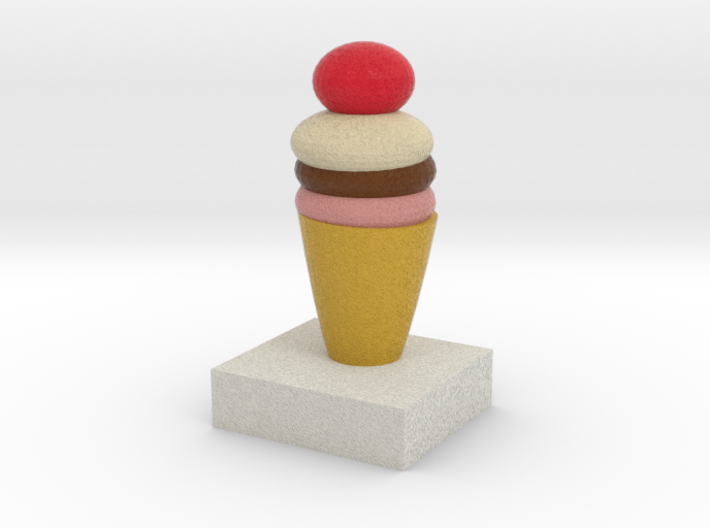 One Ice Cream Model 3d printed