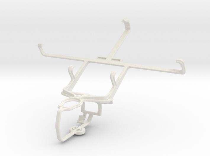 Controller mount for PS3 & BLU Studio 5.3 II 3d printed