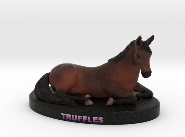 Custom Horse Figurine - Truffles 3d printed
