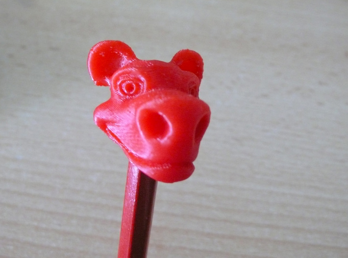 Cartoon Pencil Head 3d printed