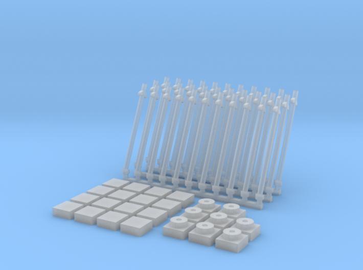 Antena inclinada(x33)+Baldosa1(x16)+placa1(x8) 3d printed