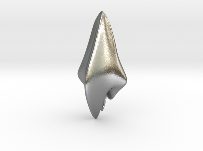 Space Shark, Pendant 3d printed