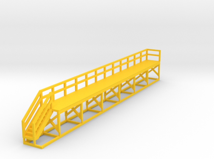 N Scale Train Maintenance Platform SINGLE STAIR LE 3d printed