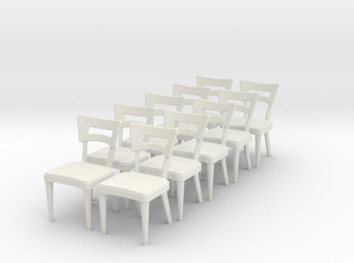 1:24 Dog Bone Chair (Set of 10) 3d printed