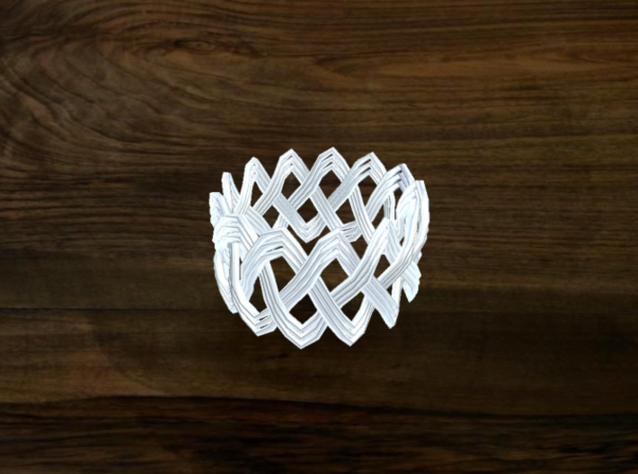 Turk's Head Knot Ring 3 Part X 13 Bight - Size 7 3d printed