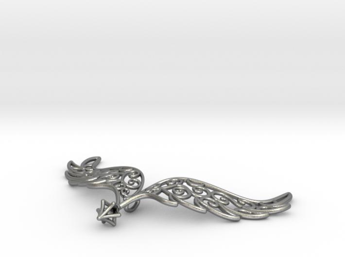 Angel Wings Pendant - precious metals 3d printed
