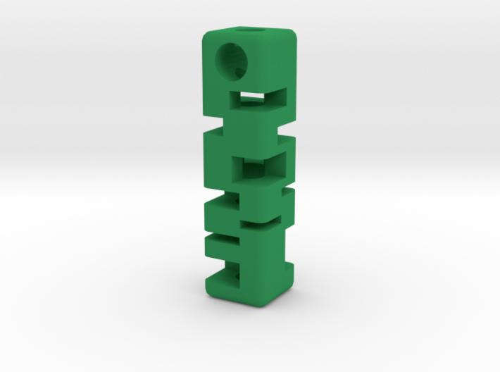 Tritium Holder Pendant - GLOW IN THE DARK! 3d printed