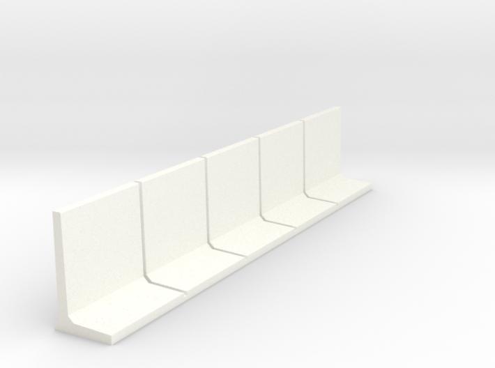 HO Retaining Wall 2000mm 5pc 3d printed