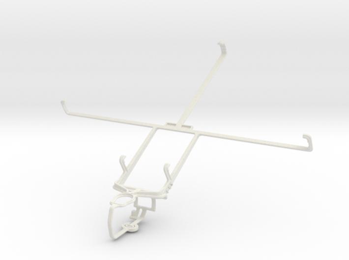 Controller mount for PS3 & Motorola XOOM MZ604 3d printed