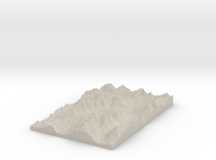 Model of Trinity Stream 3d printed