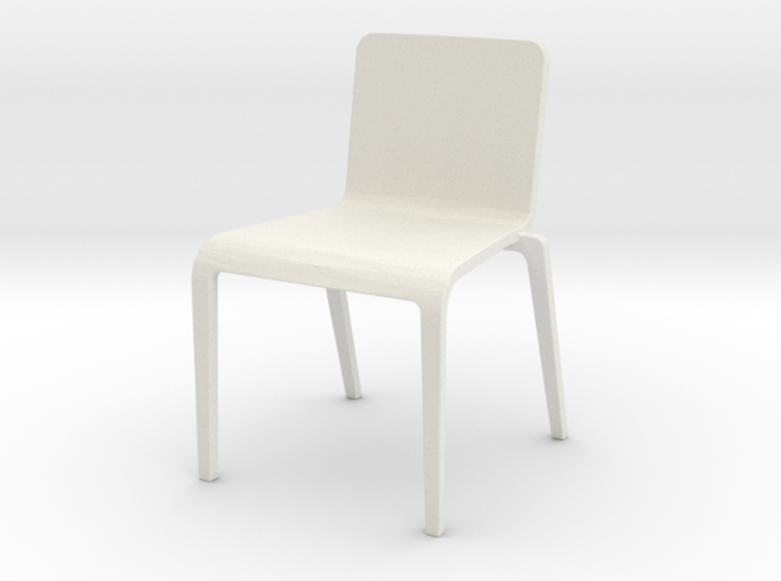 Plastic Stacking Chair 1:12 scale 3d printed